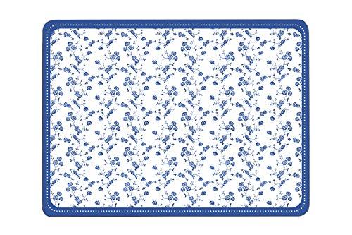 Premier Housewares Blaue Rose Tischsets, 4er Set, Kork - Design Charger Plate