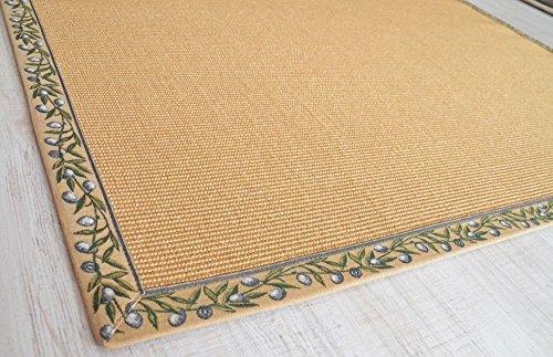 Sisalteppich mit großer Olivenbordüre Size 140 x 200 cm
