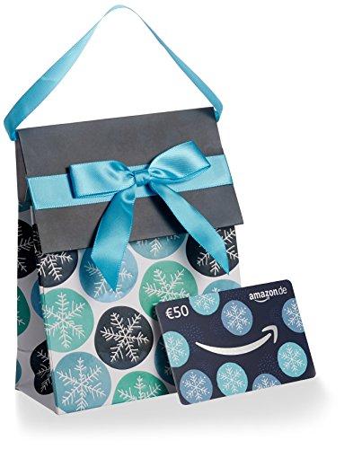 Amazon.de Geschenkkarte in Geschenktasche - 50 EUR (Winter) - Mann Zieht
