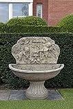 Brunnen, Gartenbrunnen, Zierbrunnen, fountain, H 160 Farbe sandstein