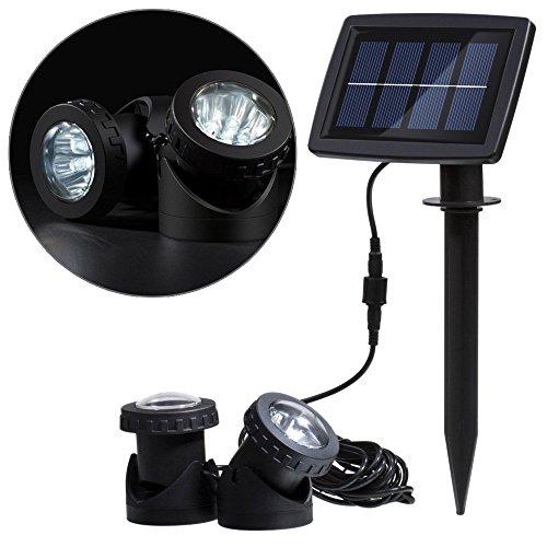 Lampes solaires de vidéoprojecteur Pond, Kigncoo Super Bright 18 LED RGB Underwater Paysage spot d'éclairage pour extérieur Jardin piscine sous l'eau Décoration