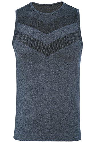 51fRYliDbLL - Canotta Uomo, attillata, per palestra, senza cuciture, Abbigliamento sportivo prodotto da Sundried®