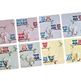 Adhesive Wall hooks - EVERSTIX Designer hooks, 8 pack Adhesive hooks, 13.2lb/6kg Transparent Super Heavy Duty No Scratch, Nail free, Waterproof, Oilproof, for Bathroom, Kitchen, Summer / Winter Clothing, Wall & Ceiling