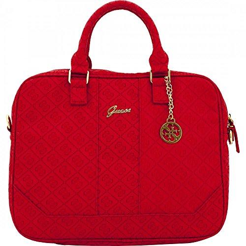 Guess Scarlett Collection universale Borsa per Notebook da 13, colore: rosso