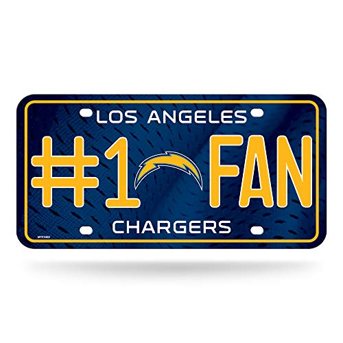 Rico NFL Los Angeles Ladegeräte # 1Fan Metall License Plate Tag