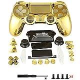 Canamite Ersatzteile Komplette PS4 Controller Gehäuse Schutzhülle Schutzhülle Tastensatz für PlayStation 4 DUALSHOCK 4 Controller gold