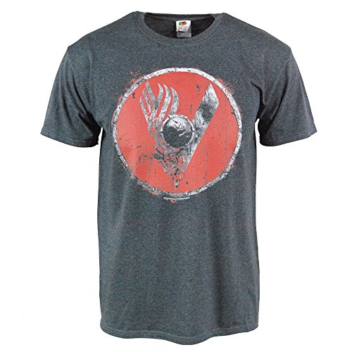 mens-vikings-tv-series-shield-logo-dark-grey-t-shirt-medium-chest-38-40in-dark-grey