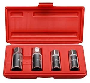 Coffret douilles extracteur de gougon à rouleaux 6,8,10,12 mm 4 piéces