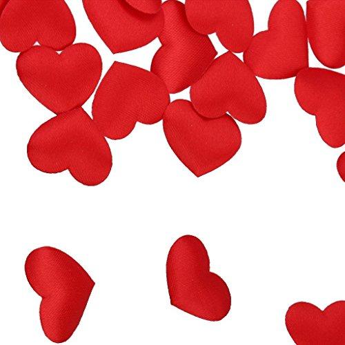 Applicazioni cuori cuoricini imbottiti decorativi cuori rossi