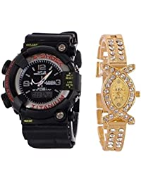Capture Fashion Multicolor Analog and Digital Watch - Pack of 2