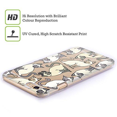 Head Case Designs Siamese Katzenrasse Muster Ruckseite Hülle für Apple iPhone 6 / 6s Siamese