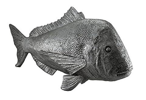 Le Mahi Mahi décoratifs Finition argent Dorado Statue de poisson