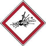 Brady PIC 1801-40 * 40-B7541-CRD Gefahrstoff - GHS Laminierter, Polyester Schild, 40 mm x 40 mm (20-er pack)