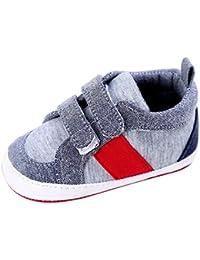 Scarpe per bambina, Yoyoug bambino scarpe ragazza neonato culla suola morbida scarpe sneakers, Tela, Silver, 3
