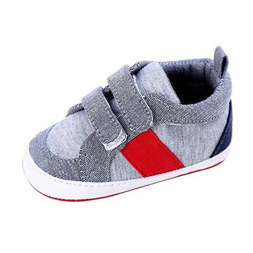 Krabbelschuhe Babyschuhe Lauflernschuhe Kleinkind Ronamick Baby Schuhe Junge Mädchen Neugeborenen Krippe weiche Sohle Schuh Turnschuhe(12~18 Monate, Grau)