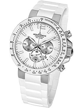 Jacques Lemans Unisex-Armbanduhr Milano Chronograph Silikon 1-1696B