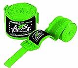 Be Smart Hand Wraps Bandagen Fist Boxen Innen Handschuhe Mitts MMA Baumwolle Paar, Kinder, grün