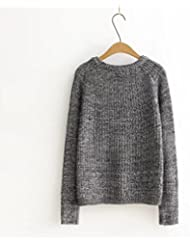 Ropa nueva suelta vintage suéter hecho punto mujeres , s