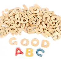 ROSENICE Lettere in legno piccolo legno alfabeto lettere alfabeto in