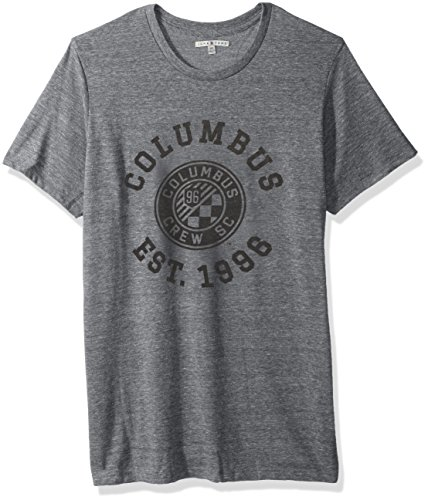 Pre-short Sleeve Graphic T-shirt (Junk Food MLS Herren Short Sleeve Crew Neck Tee, Herren, Clothing Men's Short Sleeve Crew Neck Tee, Stahl, Small)