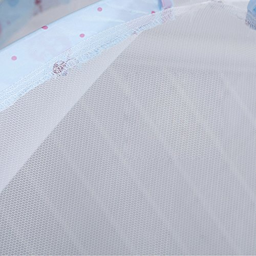 Migavenn Bébé Lit Moustiquaire Portable Pliant D'été Dormir Pépinière Chambre Moustiquaire Tente Lit pour Enfants En Bas Âge Enfants Bleu