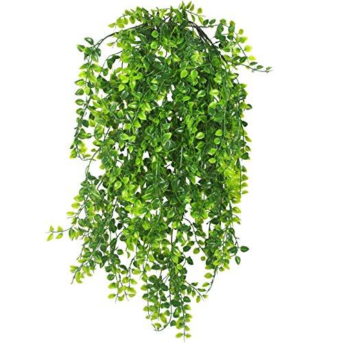 2Pcs Künstliche Ivy Fake Aufhängen Vine Pflanzen Persian Rattan Aufhängen Kunststoff Pflanze Grün Decor für Küche Home Hochzeit Wand Indoor Outdoor - Grüne Trauben Kostüm