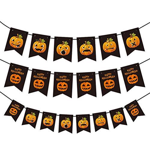 BESPORTBLE 12 Sets Halloween Banner Flaggen Hängen Girlande Partei Requisiten Liefert Dekoration Indoor Outdoor, Random Style
