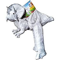 Kids Dress Up Grey Triceratops Costume 3-7 Years by Dinosaur