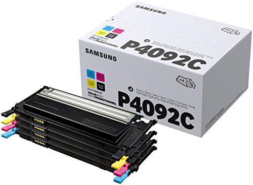 Samsung CLT-P4092C/ELS Original Toner - Value Pack (C/M/Y/K, Kompatibel mit: CLP-310/CLP-315/CLX-3170/CLX-3175 Series)