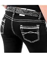 cipo baxx damen jeans cbw 445 straight bekleidung. Black Bedroom Furniture Sets. Home Design Ideas