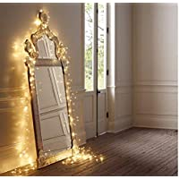 SALCAR Catena Luminosa a LED, 10 metri/33 Ft, 100 diodi per Interni ed Esterni, Filo di Rame per Natale, Feste, Impermeabile, connettore USB (Bianco Caldo)