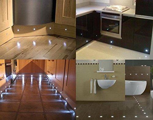 fvtled 6er set mini led bodeneinbaustrahler dc12v 19. Black Bedroom Furniture Sets. Home Design Ideas