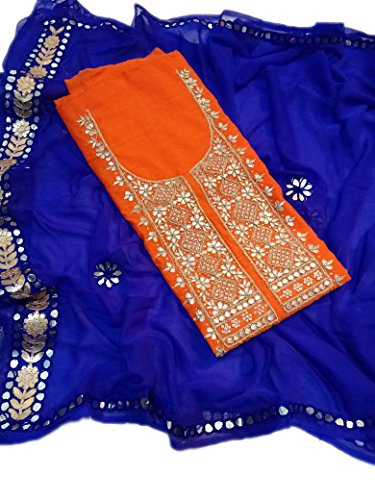 Heavy chanderi kurti with gota patti handwork good finishing With chiffon gotta...