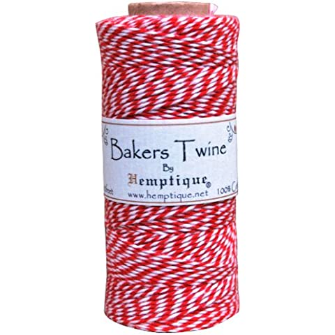 Cotton Baker's Twine Spool 2 Ply 410'/Pkg-Red