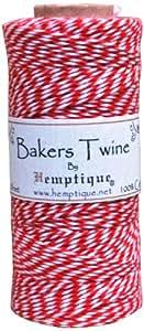 Hemptique Baumwolle Baker 's Twine Spule 2lagig 410'rot, andere, mehrfarbig