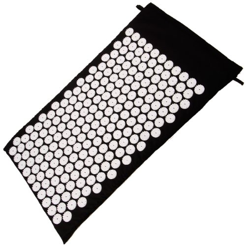 Kabalo Yoga Shakti Spike Mat - Nadelreizmatte Therapiepunkte - Pilate Yoga Mat Bed Acupressure - 74x43x2cm (Grey) - Hause Fitnessgeräte