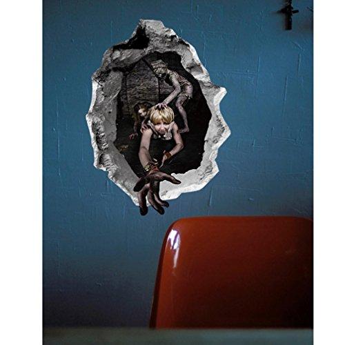 mmer Wandaufkleber OHQ Happy Halloween Hause Haushalt Wandbild Decor Aufkleber (D) (Mandala D'halloween)
