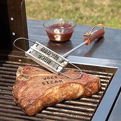 BBQ Branding Iron HelloPretty per hamburger da bistecca con lettere intercambiabili