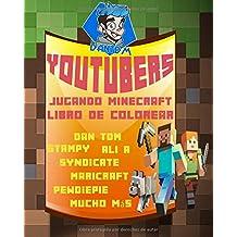 YouTubers Jugando Minecraft Libro de Colorear - DAN TDM, STAMPY, ALI A, SYNDICATE, MARICRAFT, PEWDIEPIE, MUCHO MAS