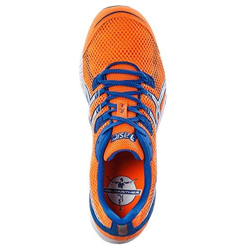 Asics, Scarpe da corsa uomo orange / blau ORANGE/WHITE/BLUE