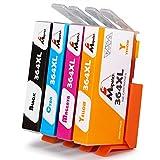 Mipelo Compatible HP 364XL 364 XL Cartucce d'inchiostro, 4 Pack per Stampante HP Officejet 4620 4622, HP Photosmart 7520 6520 5520 5510 6510 7510 B110a B8550 B109a C310a, HP Deskjet 3520 3070A 3524