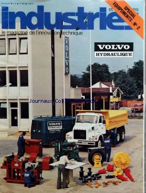 INDUSTRIES ET TECHNIQUES [No 322] du 01/09/1976 - SPECIAL EQUIPEMENTS VOLVO HYDRAULIQUE