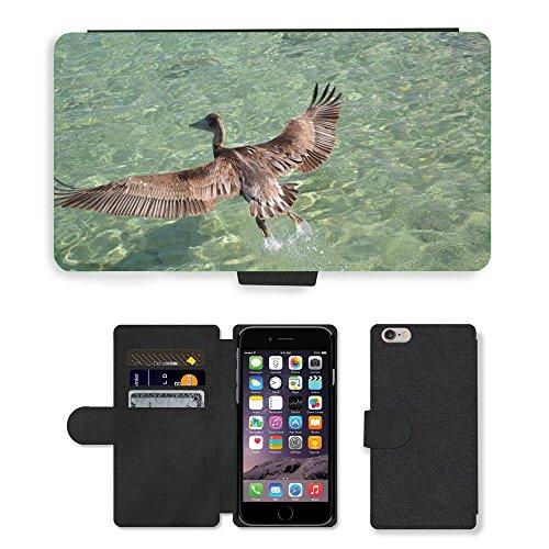 Just Mobile pour Hot Style Téléphone portable étui portefeuille en cuir PU avec fente pour carte//m00140313Oiseaux d'eau pitié Encyclopédie Liberté//Apple iPhone 6Plus 14cm