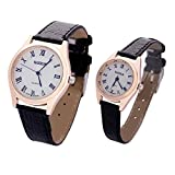 Cinturino Orologio Couple Wrist Watch, LifeePro Vigilanza Fasci in Pelle Adatta per Orologi Tradizionali, Sportivi, Smart Watch(Nero2)