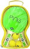 Donic-Schildkröt Ping Pong 2 Spieler in Tragetasche, 788486 Tischtennis Set, Grün/Gelb, M