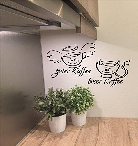 "Preisvergleich Produktbild *NEU* Wandtattoo f. Küche/Esszimmer/Büro ***GUTER Kaffee - BÖSER Kaffee"" m. Größen u. Farbauswahl (60cm)"