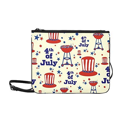 �ngigkeit Custom High-Grade Nylon Slim Clutch Bag Cross-Body Bag Umhängetasche ()