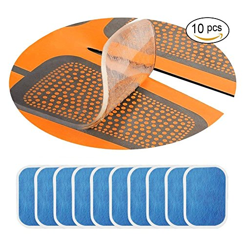 Travel Life 10 Pcs EMS Gel Pads EMS Muscle Stimulator Replacement Pads Abs elektrischer Muskelstimulation Training Gear Massage Gerät Ersatz Gel Tabelle Zubehör 10 Gel Blatt für Gel-Pad