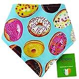 Dimples Hundehalstuch - Donuts (Handgemacht für alle Größen und Rassen) 60cm