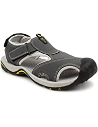 dcf363ab5d8 FUEL Men s Synthetic Fashionable Summer Comfortable Velcro Closure Solid  Sports Floaters   Sandals